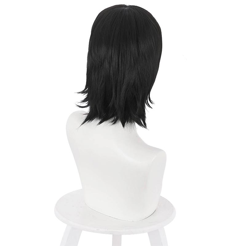 Yoshino Junpei Cosplay Wigs Anime Jujutsu Kaisen Black Heat Resistant Synthetic Hair Wig Pelucas