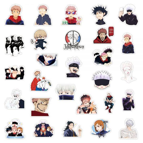 10 30 50 100PCS Anime Jujutsu Kaisen Graffiti Stickers for Laptop Skateboard Luggage Motorcycle Waterproof Decal 5 - Jujutsu Kaisen Shop