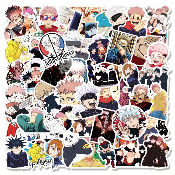 10 30 50 100PCS Anime Jujutsu Kaisen Graffiti Stickers for Laptop Skateboard Luggage Motorcycle Waterproof Decal - Jujutsu Kaisen Shop