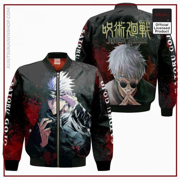 1207 AOP Jujutsu Kaisen VA Satoru Gojo 4 Bomber jacket front and back - Jujutsu Kaisen Shop