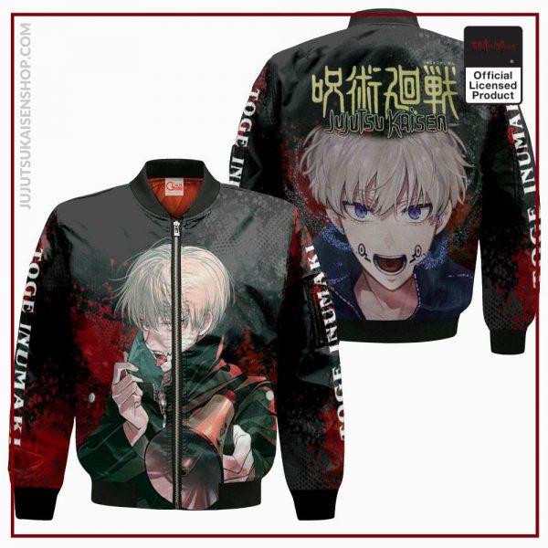 1207 AOP Jujutsu Kaisen VA Toge Inumaki 4 Bomber jacket front and back - Jujutsu Kaisen Shop