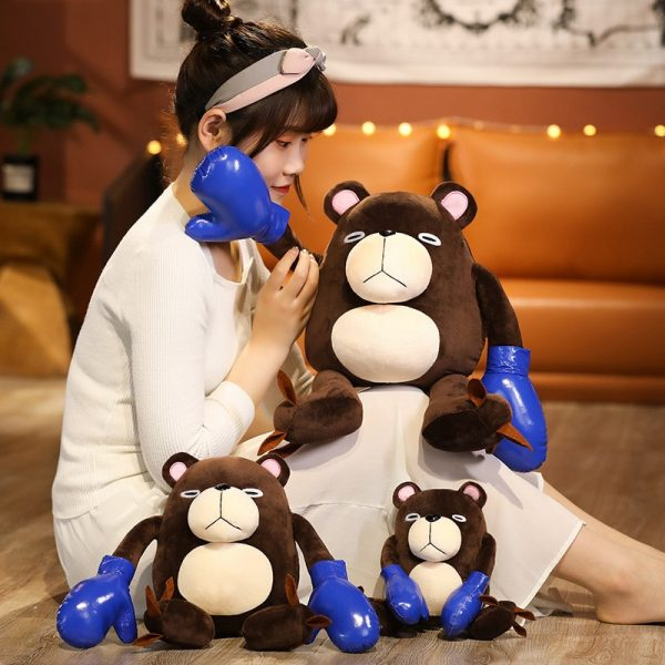 38 50CM Anime Jujutsu Kaisen Gojo Satoru Theme Cute Bear Soft Stuffed Plush Dolls Pillow Puppet 1 - Jujutsu Kaisen Shop