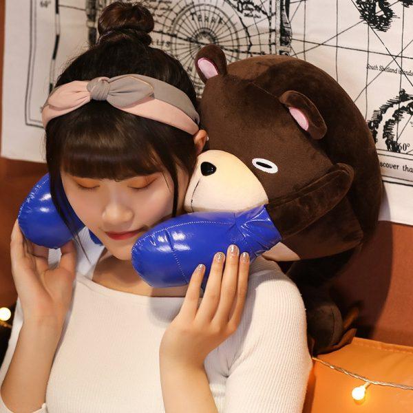 38 50CM Anime Jujutsu Kaisen Gojo Satoru Theme Cute Bear Soft Stuffed Plush Dolls Pillow Puppet 3 - Jujutsu Kaisen Shop